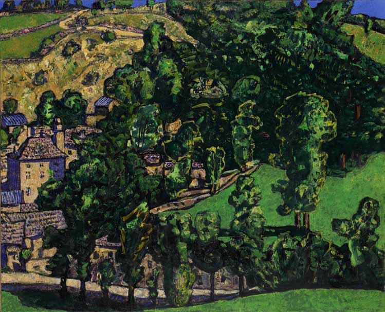 Vincent Bioulès, Laubert, huile sur toile, 81x100cm, 2012-2013. Courtesy Galerie Vieille du Temple.