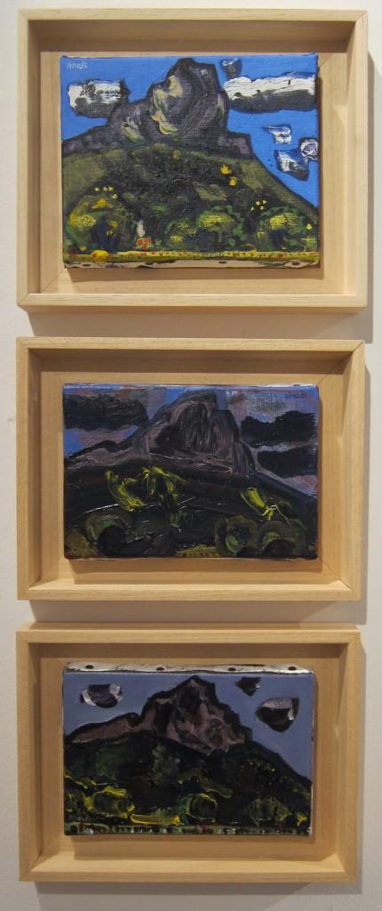 Trois petits formats peints sur le motif (14 x 18 cm et 12 x18 cm)