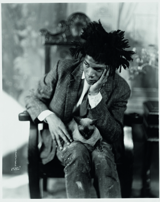 Jean-Michel BASqUIAT (1960 - 1988) Photographié par James Van der Zee, en 1982 à New York Collection Würth, inv. 7017