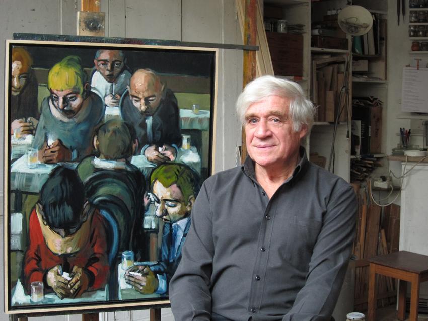 Jörg Hermlé dans son atelier. Photo V.Auriel.