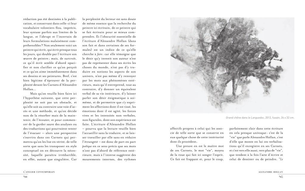 Un extrait de L'Atelier contemporain