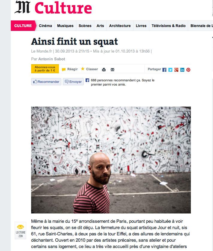 Copie d'écran du Monde.fr