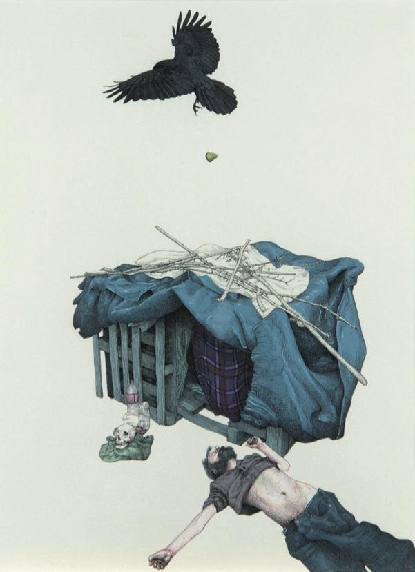 Fabien Mérelle Paul d'Aubervilliers, 2010 Encre sur papier 28,2 x 21 cm