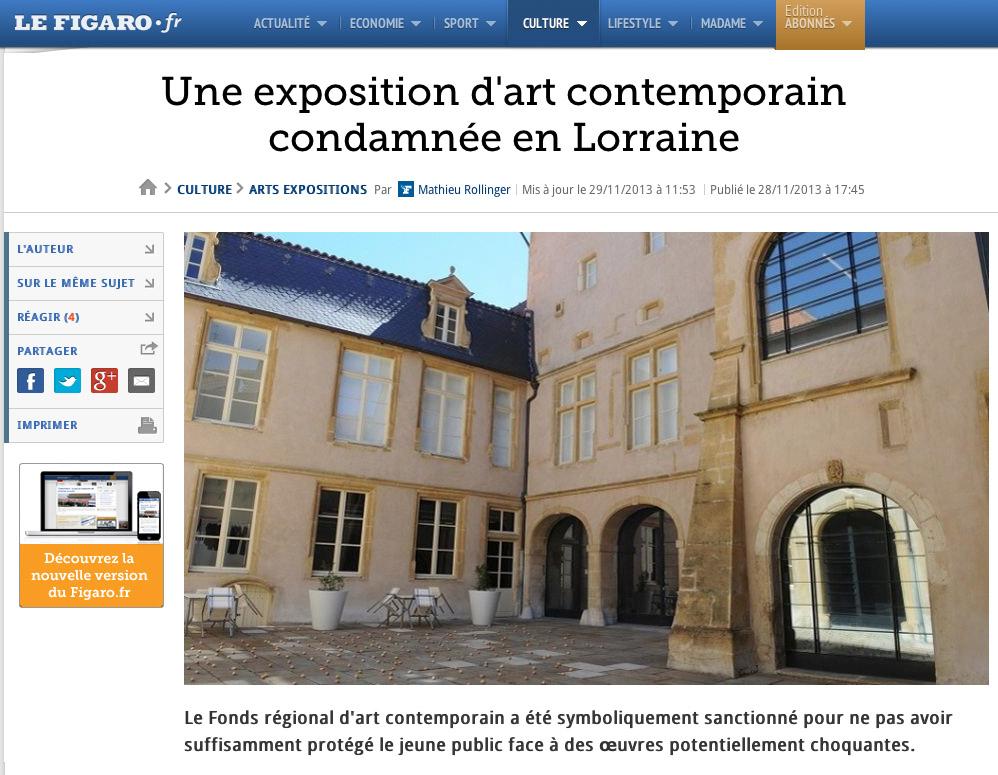 Copie d'écran du Figaro.fr