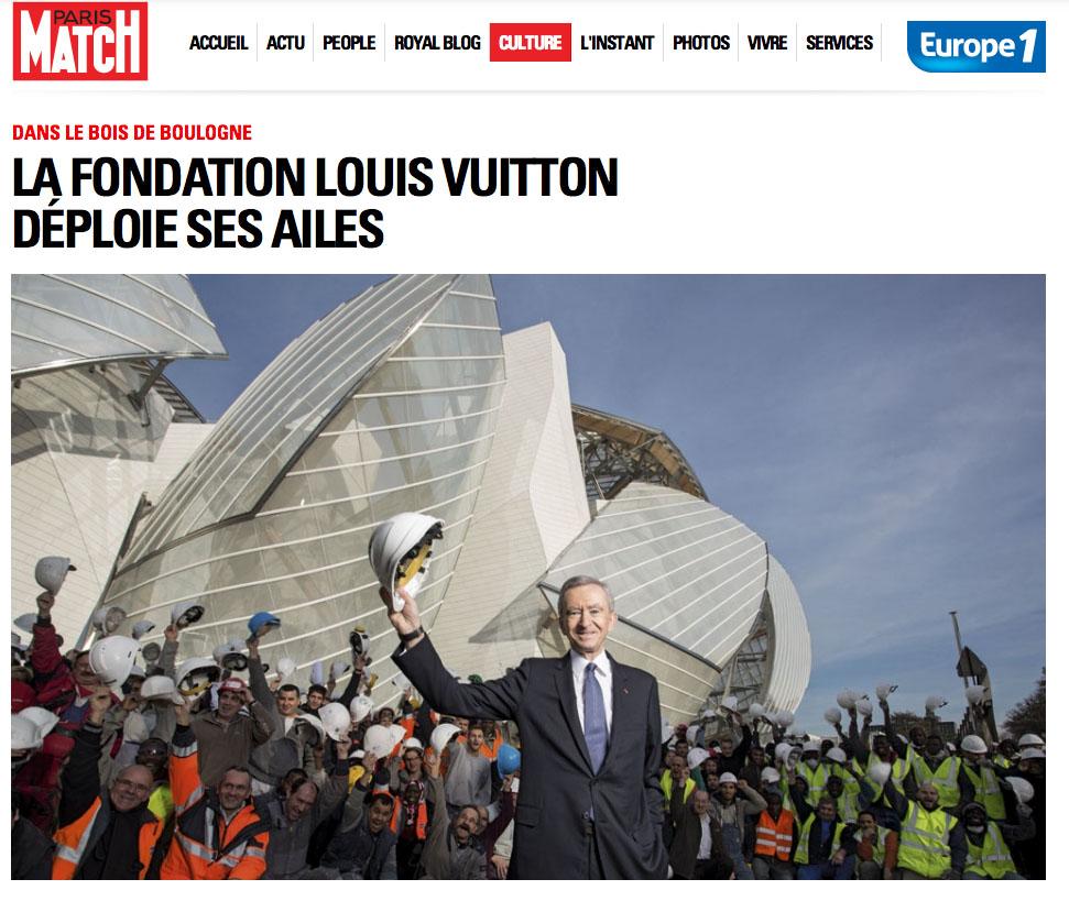 Cope d'écran du site Paris Match