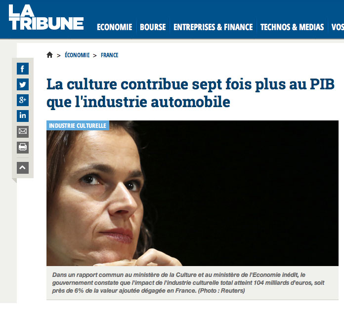 Copie d'écran du site de La Tribune