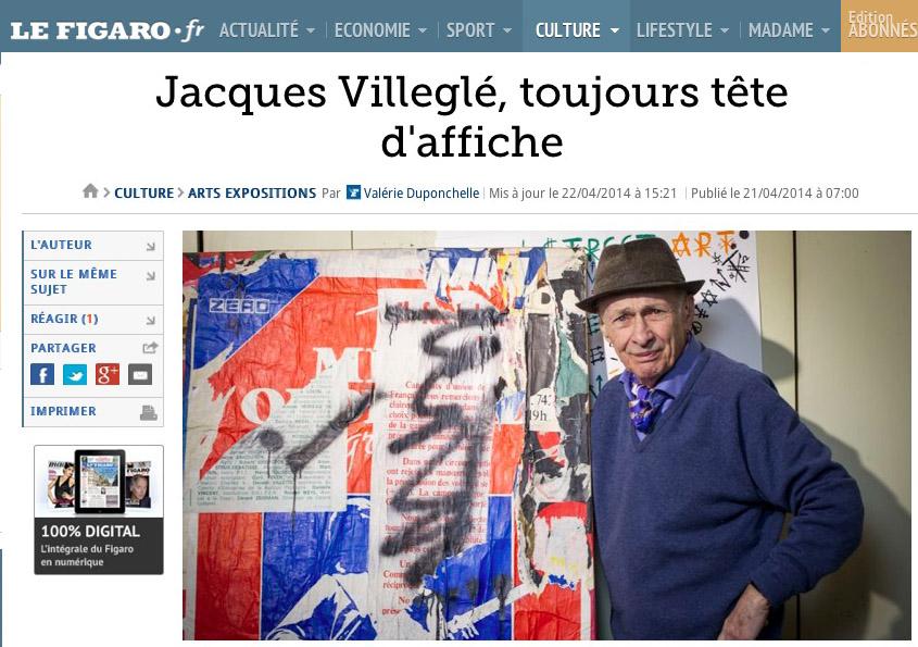 le Figaro Villeglé