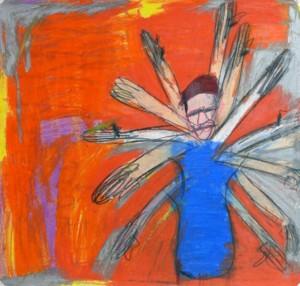 Une œuvre de George Wilson représentée par la galerie Creative Growth.