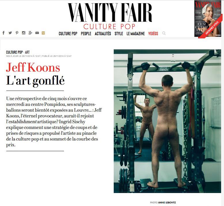 Vanity Fair. Koons.
