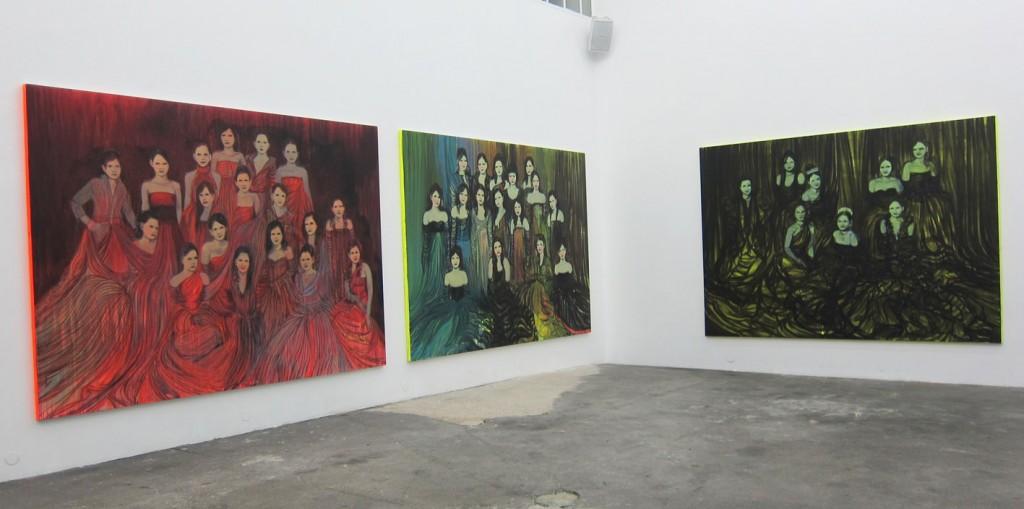 Une vue de l'exposition de Claire Tabouret à la galerie BUgada & Cargnel (ph. VA)