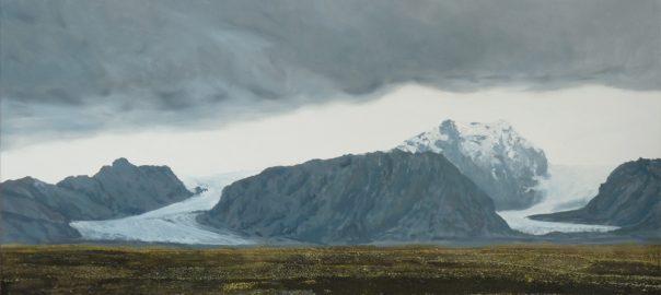 Bruno Gadenne, Les deux glaciers, 80 x 130 cm, huile sur toile, 2016