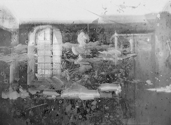 "Nir, Evron, ""Dreyfus/Méliès"" (""La dictée du bordereau"", Star Film Company 206, 1899) 2014. Pigment inkjet print on archival paper. 18 x 24 cm."